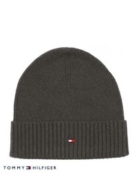 Tommy Hilfiger Pima Cotton Cashmere Beanie Charcoal Heather
