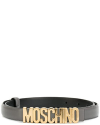 Moschino Slim Logo Plaque Belt