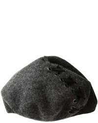 Steve Madden Laced Up Ribbon Wool Beret