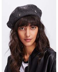 Romwe Star Beret Hat