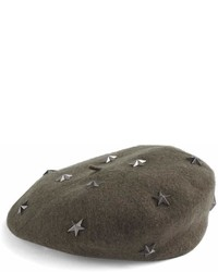 David & Young Star Studded Wool Beret