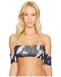 Roxy Strappy Love Reversible Shoulder Crop Bikini Top Swimwear