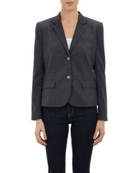 Barneys New York Schoolboy Blazer Dark Grey Size 0