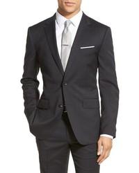 Big tall trim fit solid stretch wool sport coat medium 643043