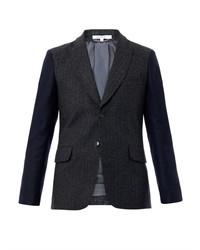 Carven Contrast Sleeve Wool Blazer
