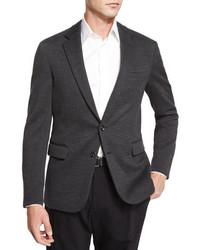 Ralph Lauren Black Label Daniel Two Button Sweater Jacket Charcoal