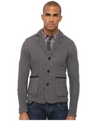 Armani Jeans Fleece Wleather Detail Trim Jacket