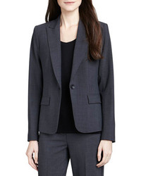 Theory Gabe 2 One Button Blazer Charcoal