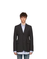 Balenciaga Grey Hourglass Single Breasted Coat
