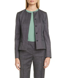 BOSS Jamaren Terra Melange Collarless Virgin Wool Jacket