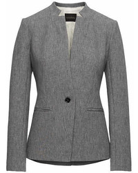 Banana Republic Long And Lean Fit Inverted Collar Bi Stretch Blazer