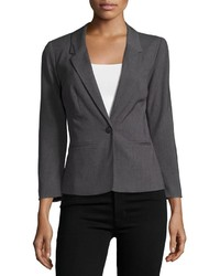 Kensie One Button Long Sleeve Blazer Gray