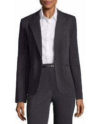 Liz Claiborne One Button Peak Lapel Blazer