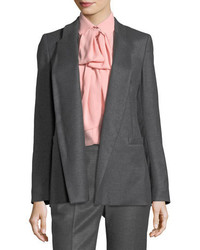 Escada Open Front Shawl Collar Flannel Blazer