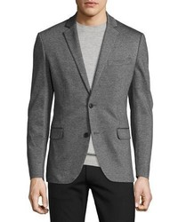 Theory Rodolf Double Face Blazer Charcoal