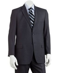 Apt. 9 Slim Fit Shadow Striped Charcoal Suit Jacket