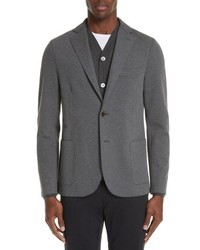 Eleventy Slim Fit Stretch Cotton Blend Blazer