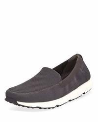 Swims Breeze Leap Knit Boat Shoe Gray