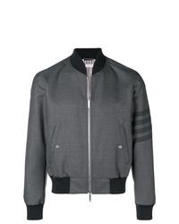 Thom Browne 4 Bar Ribbed Knit Blouson Jacket