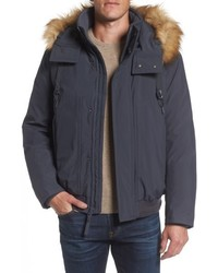 Marc new york insulated bomber jacket with faux fur trim medium 5253961