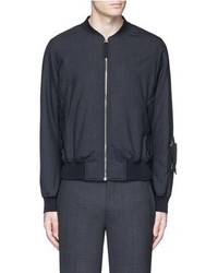Alexander McQueen Padded Wool Bomber Jacket