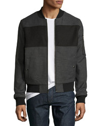 Original Penguin Pieced Bomber Jacket Gray