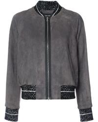Snakeskin effect bomber jacket medium 5359034