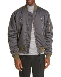 Maison Margiela Zip Detail Bomber Jacket