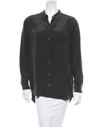 Silk cutout blouse medium 594783