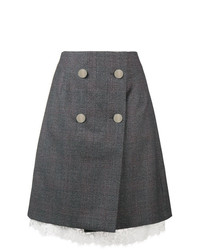 Calvin Klein 205W39nyc Front Button Wrap Skirt