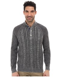 Tommy Bahama Barbados Cable Button Mock Neck Sweater