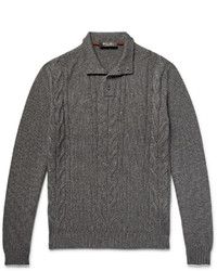 Loro Piana Cable Knit Cashmere And Silk Blend Sweater