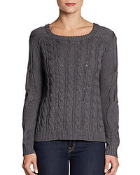 Cable knit chain wool sweater medium 22623