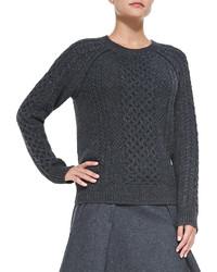 Vince Cable Knit Crewneck Sweater