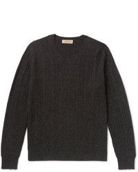 Burberry Cable Knit Mlange Cashmere Sweater