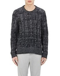 Lanvin Cable Knit Sweater Black