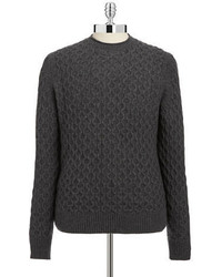 Black Brown 1826 Cableknit Lambswool Sweater