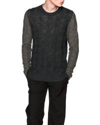 Maison Margiela Color Block Cable Knit Sweater