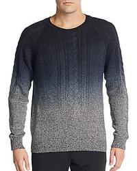 Vince Dip Dyed Linen Crewneck Sweater