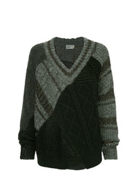 Kolor Patchwork Asymmetric Sweater
