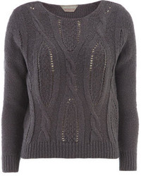 Dorothy Perkins Petite Cable Front Jumper