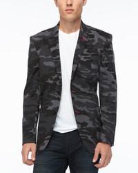 Charcoal Camouflage Blazer