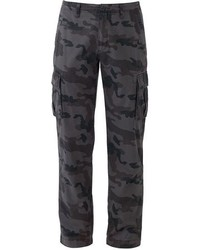 Charcoal Camouflage Cargo Pants