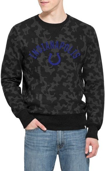 5a4762d6 47 Brand Indianapolis Colts Stealth Camo Crewneck Sweatshirt