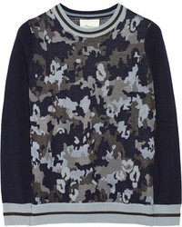 3.1 Phillip Lim Camouflage Print Wool Blend Sweater