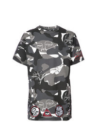 Charcoal Camouflage Crew-neck T-shirt