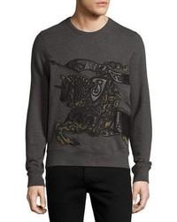 Camo leather equestrian knight sweatshirt medium 782756