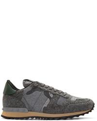 Grey felt camo rockrunner sneakers medium 655270