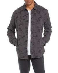 Charcoal Camouflage Shirt Jacket