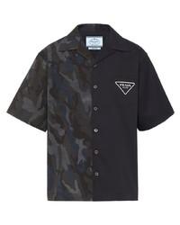 Prada Double Match Stretch Cotton Shirt
